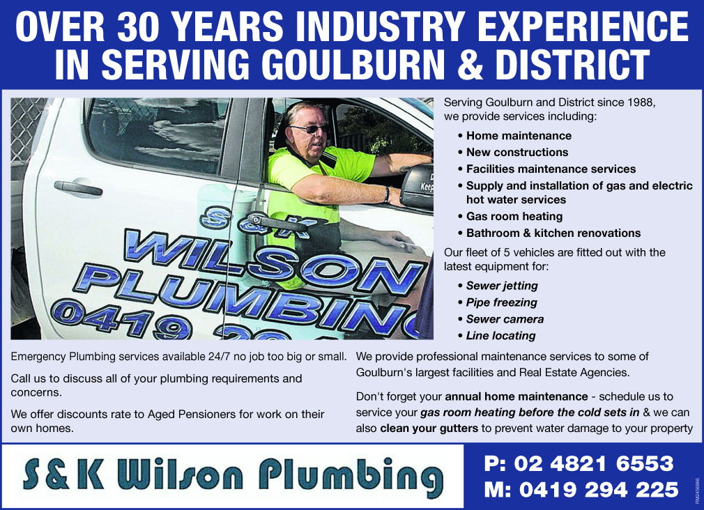 Over 30 years experience servicing the Goulburn district.